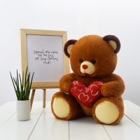 Graziella Bear Stuffed Toy Brown