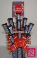 Snickers bouquet with happy bithday card